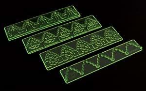De encaje FMM con relieve juego de 1, 3 incluye de encaje designs plus 1 cortador, diseño de jardín, césped, Mantenimiento