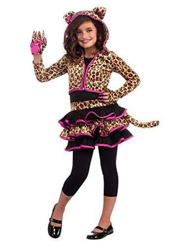 Drama Queens Leopard Hoodie Costume, -