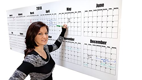 Wide Calendar Watch (Oversize Dry Erase Large Wall Calendar- 2018 Wall Calendar 36