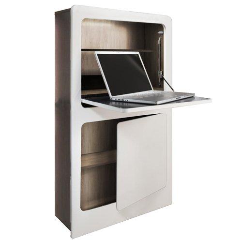 Phönix 806203WEE Milano Workstation in weiß / Eiche Sägerau im coolen Design