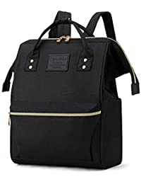 Laptop Backpack College School Travel Business Book Doctor Shopping Bag Light Weight Casual Daypack for Women Men Girls Boys Student Fit 14 inch Compter Netbook-Black