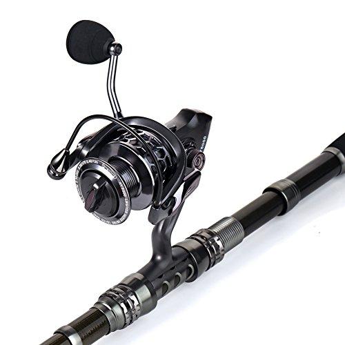 Sougayilang spinning fishing rod and reel combos portable for Fishing rod and reel combo
