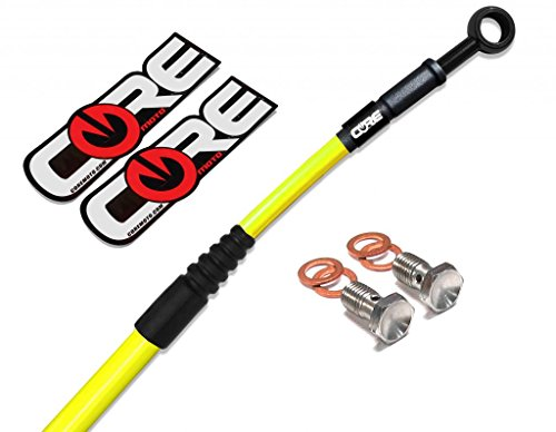 Core Moto CC0051-YB MX Front and Rear Brake Line Kit - Yellow for YZ125 (99-02)/YZ250 (99-02)/YZ250F (01-02)/YZ450F (00-02) by Core Moto (Image #1)