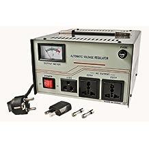 VCT VS1500 - Heavy Duty 1500 Watt Voltage Regulator With Built-in Voltage Step Up/Down Voltage Transformer for 110V/220V Worldwide Use