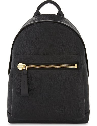 TOM FORD Grained Leather Backpack Signature Icon Bag Travel Buckley ()