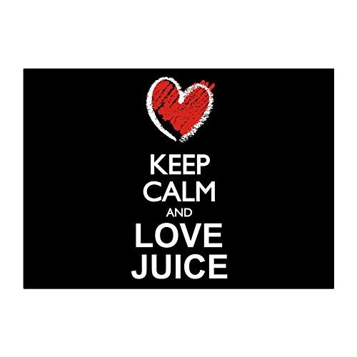 Idakoos - Keep calm and love Juice chalk style - Drinks - Sticker Pack x4