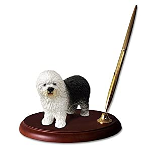 Conversation Concepts Old English Sheepdog Dog Desk Set 33