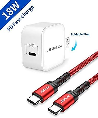 Amazon.com: JSAUX - Cargador USB C de 18 W compatible con ...