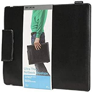 Belkin-Ultra-Thin-Netbook-Envelope-Leather-Sleeve-Case-13-3-034-Inch-Black B