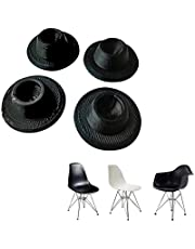 SplashNcolor 4-Pack Chair Glides Replacements for Eames Eiffel Style Chair Leg Cover Furniture Feet Black