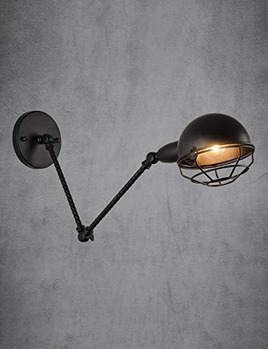 (Telescopic Rocker Wall Light, Industrial Folding Retro Wall Lamp, Dining Room Bedroom Bedside Lamp, Black Three Optional (Design : C))