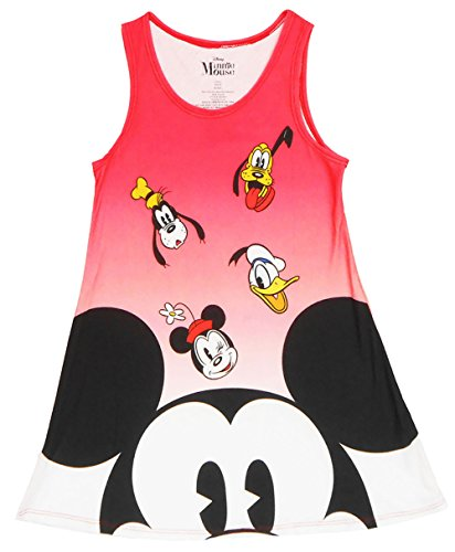 [Disney Girls Mickey Mouse Float Sublimated Dress Multicolored Medium] (Mickey Dress)