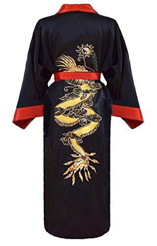 Homme Laciteinterdite Noir Kimono Et Rouge Réversible Japonais kZiPXuOT
