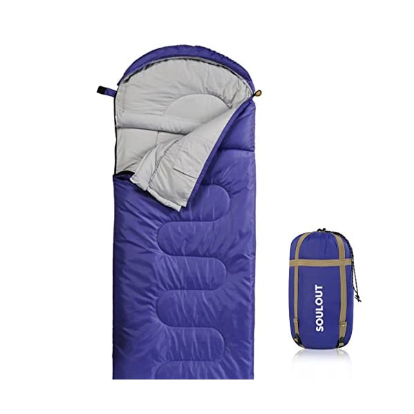 SOULOUT Sleeping Bag 4 Season Warm Weather And Winter Lightweight Waterproof Great For Adults Kids Excellent Camping Gear Equipment Traveling And Outdoor Activities