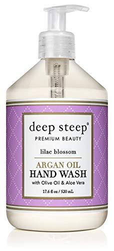 Deep Steep Argan Oil Liquid Hand Wash, Lilac Blossom, 17.6 Fluid ()