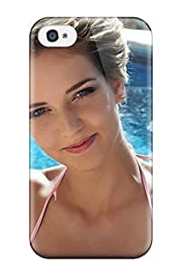 HAEDoVG7717yJNdc Case Cover Protector For Iphone 4/4s Cute Brunette At The Pool Girl Beautiful People Women Case
