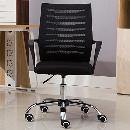0000001 Computer Chair Home Conference Office Chair Lift Swivel Chair Staff Dormitory Student Chair Seat Mesh Chair (Black) (Conference Swivel)