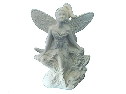Fairy with Mouse - Perfect for Fairy Garden - Ready to Paint (Unpainted) Ceramic Bisque by Doc Holliday