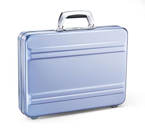 Zero Halliburton Slimline Aluminum Attache Case in Polished Blue - Slimline Laptop Brief Bag