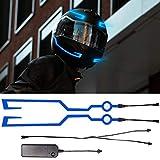 Motorcycle Helmet Light - YnGia led Helmet Sticker EL Strip (Blue)