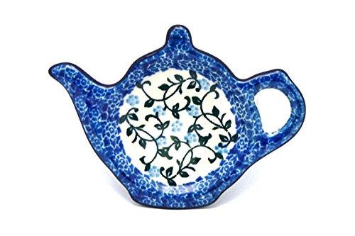 Polish Pottery Tea Bag Holder - Terrace Vines