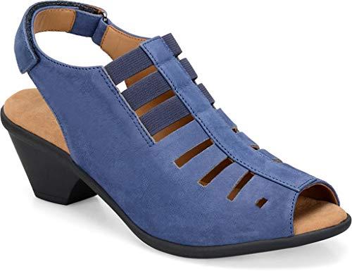 Comfortiva Women's, Faye Mid Heel Sandal Denim 7.5 ()