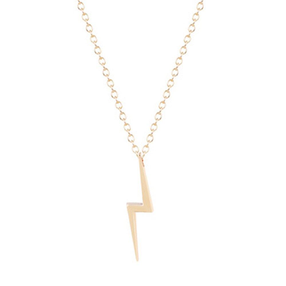 ce978a4aa8c40 Amazon.com: Lightning Bolt Necklace, Gold Lightning Bolt Thunder ...