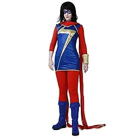 Women's Kamala Khan Cosplay Costume Superhero Outfit Halloween 41ent15F9xL
