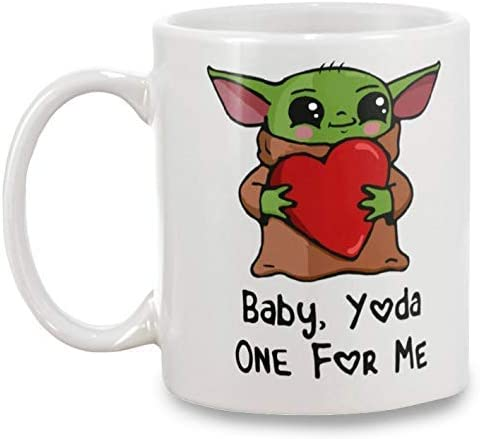 Cute The Child Mom White Ceramic 11oz Mandalorian Coffee Cup Pop Baby Yoda Mug Valentines Day Gift