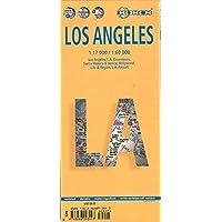 Los Ángeles, plano callejero plastificado. Escala 1:17.000/1:60.000. Borch.: Einzelkarten: Los Angeles 1:60 000, L.A…