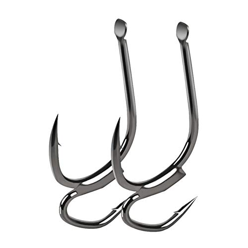 Balight High-Carbon Steel Two Strength Tip Fighting Fishing Hooks with Barbed Double Hook Bait Hook and Fish Hook Fish Gear Good Useful for Sea Fishing