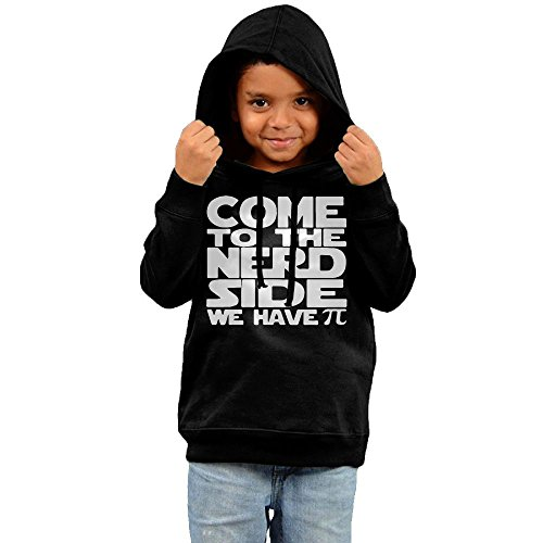 ZheuO Boys & Girls Baby Come To The Nerd Side We Have PI Casual Style Hoodie Hooded Sweatshirt 5-6 Toddler Black