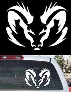Amazoncom Dodge Ram Badge Rear Window Decal Automotive - Truck window stickers for guys