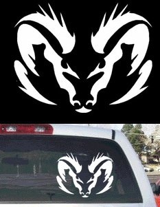Amazoncom Tribal Dodge Ram Rear Window Decal Large X - Window decals amazon