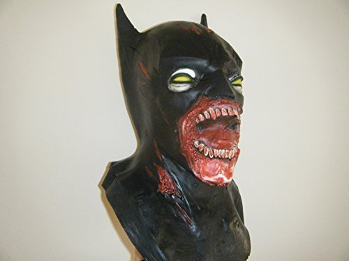 WRESTLING MASKS UK Batman - Deluxe Latex - Zombie Style Mask ()
