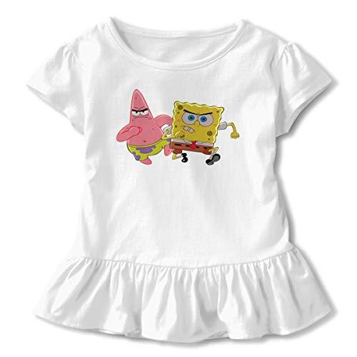 PSnsnX Spongebob Patrick Girls' Toddler Short-Sleeve Tunic Shirt Tunic Top