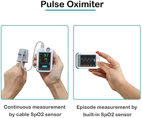Wellue Heart Monitor, Portable Bluetooth Heart Health Tracker, Wireless Detection Device with Heart Rate Tracking Function, Used for Home Health Care, Free APP for iOS Android Phone & PC Software