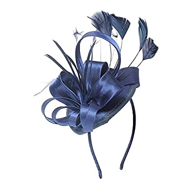 Fascinator Hats for Women Girls Feather Cocktail Tea Party Fancy Hats Bridal Kentucky Derby Headband