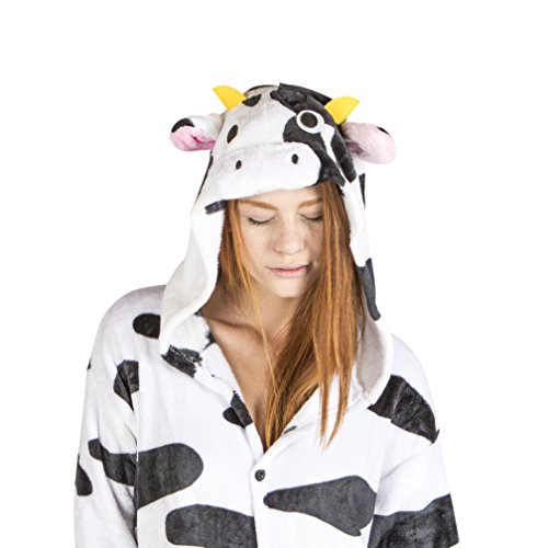 Juxy Couture  Unisex Onesie Cow Costume for Adults, Large (Cow Costumes)