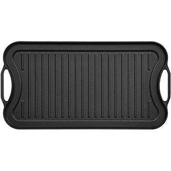 Amazon.com: Lodge 10.5 Inch Cast Iron Griddle. Pre-seasoned ...