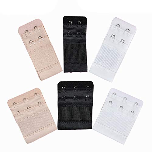 Euone  Bra Hooks, 6pcs Women Soft Comfortable Bra 2 and 3 Hooks Extender Strap Adjustable Extension ()