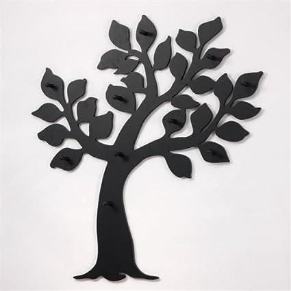 Appendiabiti albero a parete nero forma di albero nero mdf legno ...