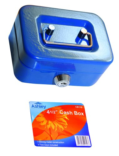 Ashley BB-CB110 4-1/2 Inch Cash Box, Red/Blue