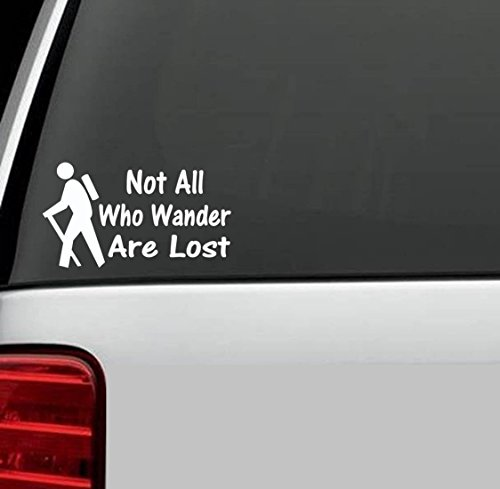 A1055 Camper Camping Not All Who Wander Quote Decal Sticker