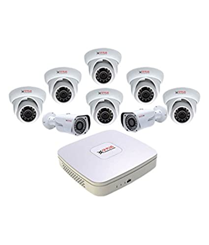 Cp-plus Hdcvi 8 Ch DVR & 6 Dom Ir & 2 Bullet Ir 1 Mega Pixels CCTV Camera Surveillance System Bullet Cameras at amazon