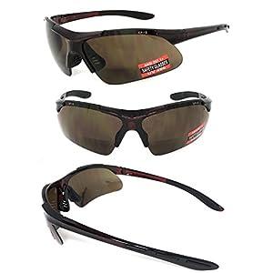 VeryHobby® Inner Bifocal Safety Reading Glasses Reading Sunglasses UV400 AP+S ANSI Z87.1+ (+2.50, Amber Lens)
