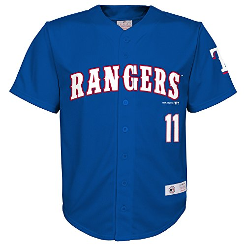 OuterStuff MLB Texas Rangers Boys Player Darvish Fashion Jersey, Athletic Red, 4/5 Texas Rangers Player