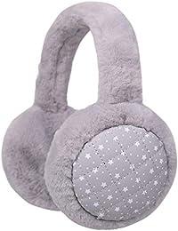 Flammi Winter Earmuffs Plush Earmuffs Classic Outdoor Ear Warmers for Women Men Big Kids (Grey)