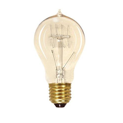 (Satco S2411 25W 120V Quad Loop Filament Indoor Vintage Incandescent Bulb, 6-Pack )