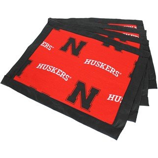 (Set of 8) - Nebraska Cornhuskers Placemats w/ border - Great for the Kitchen, or that Next Picnic or Tailgate Party! - Save Big By Bundling! -
